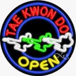 Tae Kwon Do Circle Shape Neon Sign
