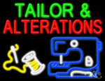 Tailor & Alterations Business Neon Sign