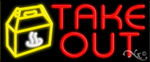 Take Out Business Neon Sign