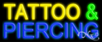 Tattoo & Piercing Economic Neon Sign