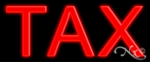 Tax Economic Neon Sign