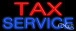 Tax Service Economic Neon Sign