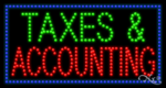 Taxes & Accounting LED Sign