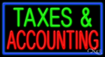 Taxes & Accounting Business Neon Sign