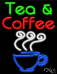 Tea & Coffee Business Neon Sign