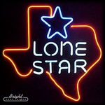 Texas Lone Star Neon Sign