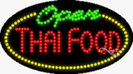 Thai Food Open LED Sign