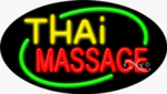 Thai Massage Oval Neon Sign