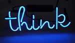 Think Neon Sign
