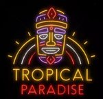 Tiki Tropical Paradise Neon Sign