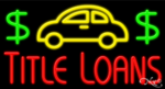Title Loans Business Neon Sign