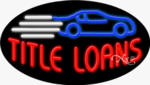 Title Loans2 Oval Neon Sign