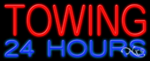 Towing 24 Hours Business Neon Sign