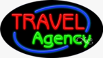 Travel Agency Oval Neon Sign