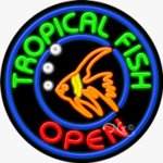 Tropical Fish Circle Shape Neon Sign