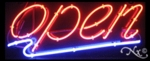 Underlined Neon Open Sign