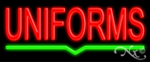 Uniforms Economic Neon Sign
