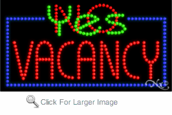 Vacancy LED Sign