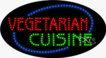 Vegetarian Cuinine LED Sign