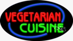 Vegetarian Cuinine Oval Neon Sign