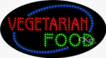 Vegetarian Food LED Sign