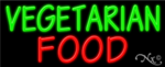 Vegetarian Food Business Neon Sign