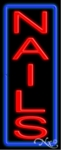 Vertical Nails Neon Sign