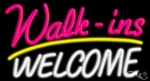 Walkins Welcome Neon Sign