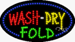 Wash Dry Fold LED Sign