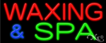 Waxing & Spa Business Neon Sign