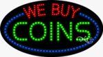 We Buy Coins LED Sign