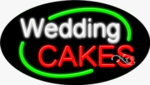Wedding Cakes Oval Neon Sign