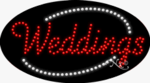 Weddings LED Sign