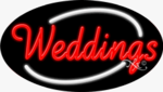 Weddings Oval Neon Sign