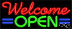 Welcome Open Business Neon Sign