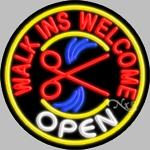 Welcome Walkins Neon Sign