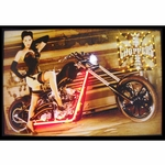 West Coast Choppers Girl Neon & LED Picture