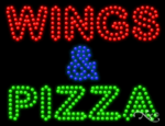 Wings & Pizza LED Sign