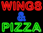Wings & Pizza Business Neon Sign