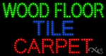 Wood Floor Tile Carpet LED Sign