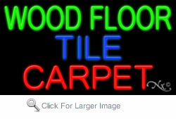 Wood Floor Tile Carpet Business Neon Sign