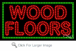 Wood Floors LED Sign
