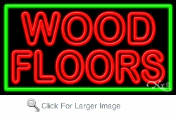 Wood Floors Business Neon Sign
