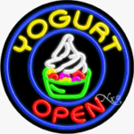 Yogurt Circle Shape Neon Sign
