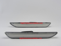 2015 2016 2017 2018 Ford Mustang Clear Lens Red LED Rear Side Marker Lamps