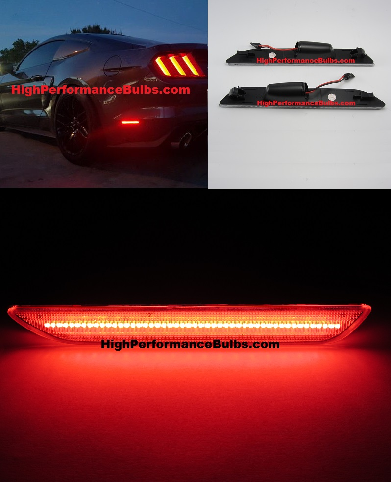 2015 2016 2017 2018 Ford Mustang Smoked Lens Red Led Rear