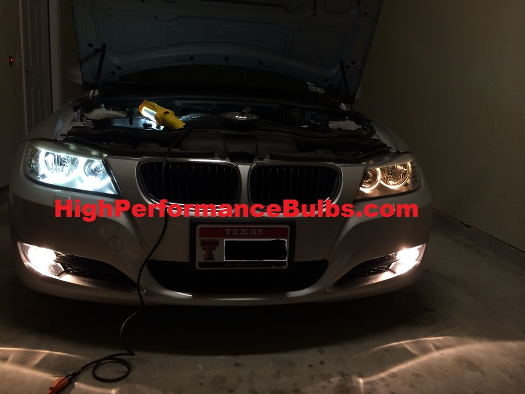 40 watt led angel eyes for 2009 2012 bmw 3 series e90. Black Bedroom Furniture Sets. Home Design Ideas