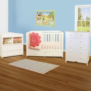 Afg 3 Piece Nursery Set Marilyn Convertible Crib Leila 2 Drawer Changer And Molly