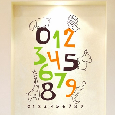 Alphabet Garden Designs Jungle Numbers Wall Decal Free