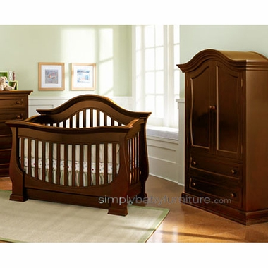 Baby Appleseed Davenport 2 Piece Nursery Set Convertible Crib And Armoire In Coco Free Shipping
